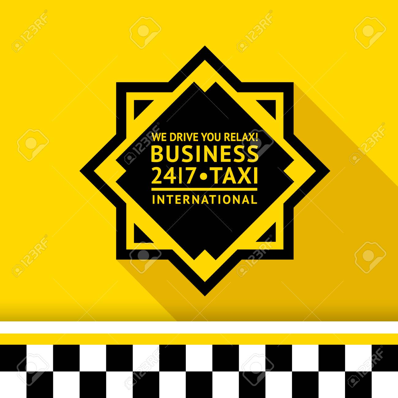 Taxi badge with shadow - 11 illustration Stock Vector - 26705116