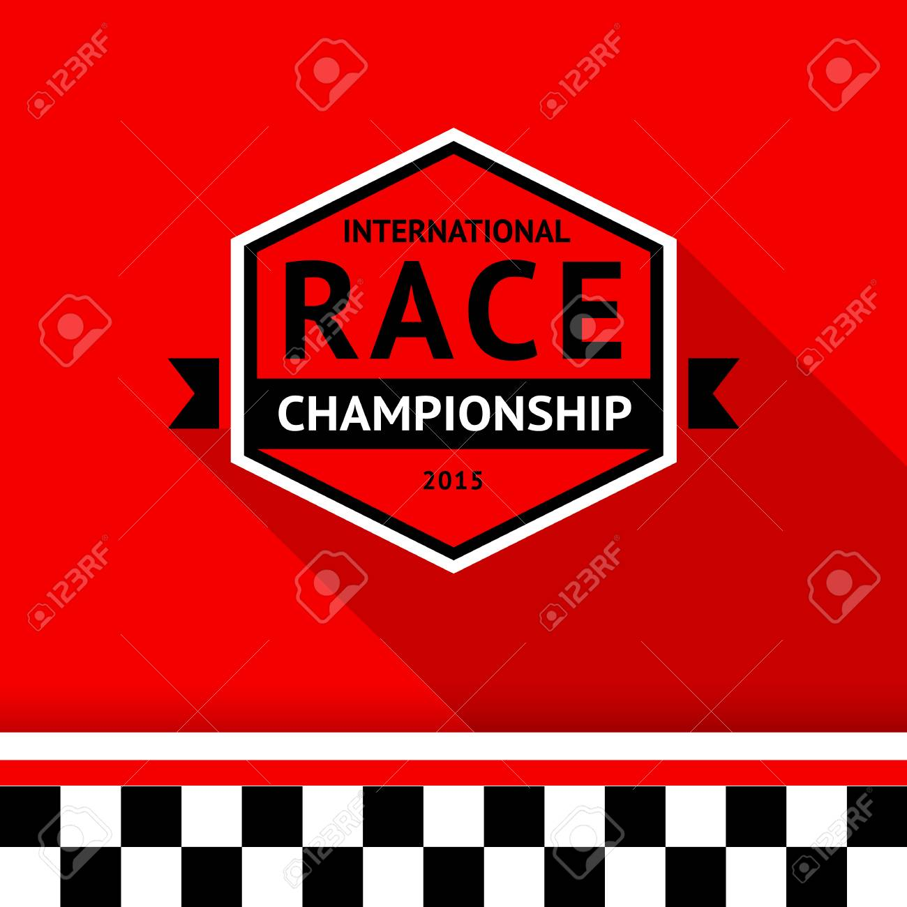 Racing badge 03 illustration Stock Vector - 26705126