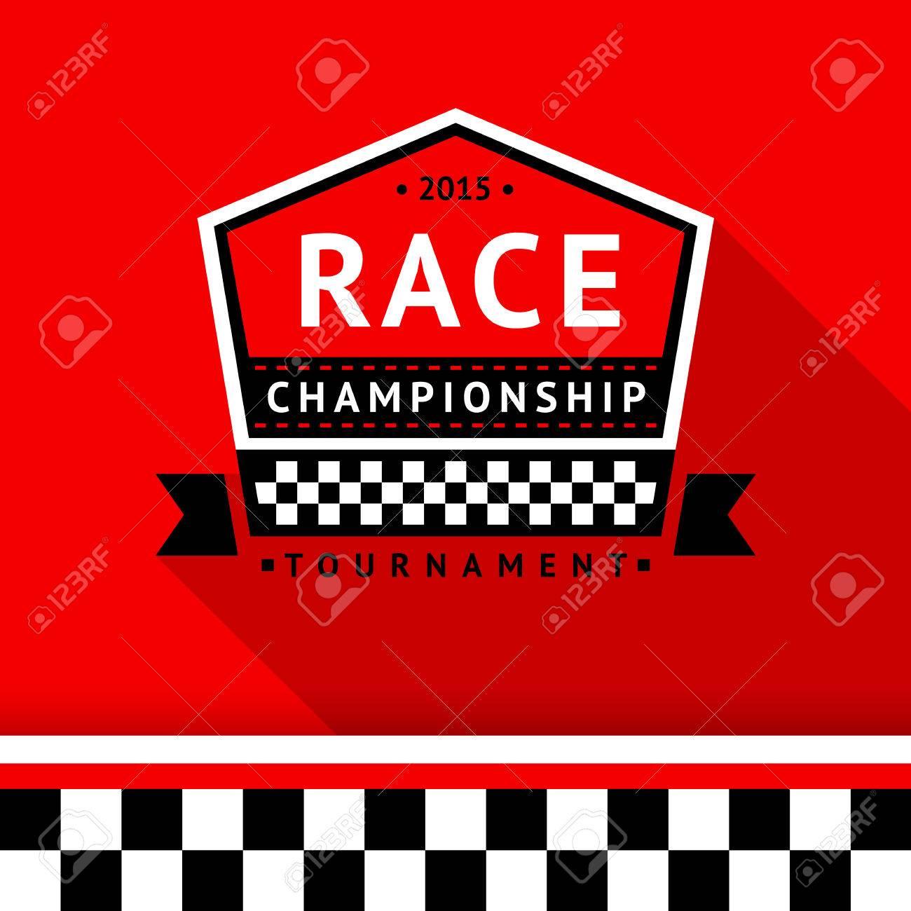 Racing badge 10 illustration Stock Vector - 26705199