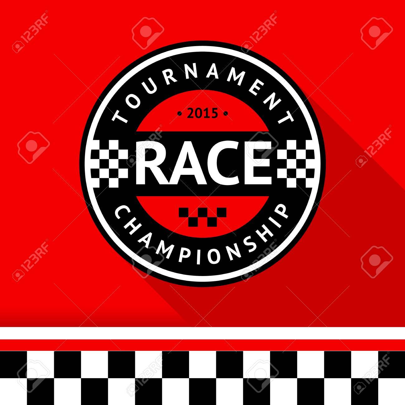 Racing badge 14 illustration Stock Vector - 26705203