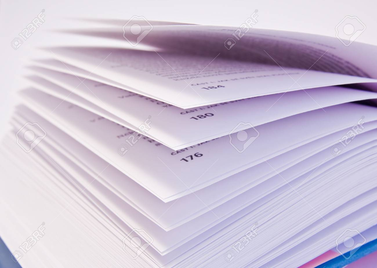 a close-up of open book on white background Stock Photo - 2925711