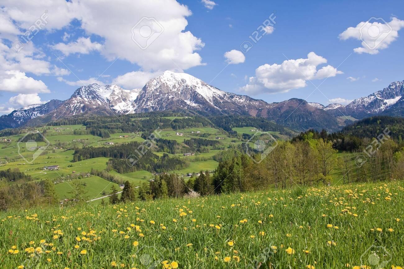 alpine landscape in the springtime Stock Photo - 3084411