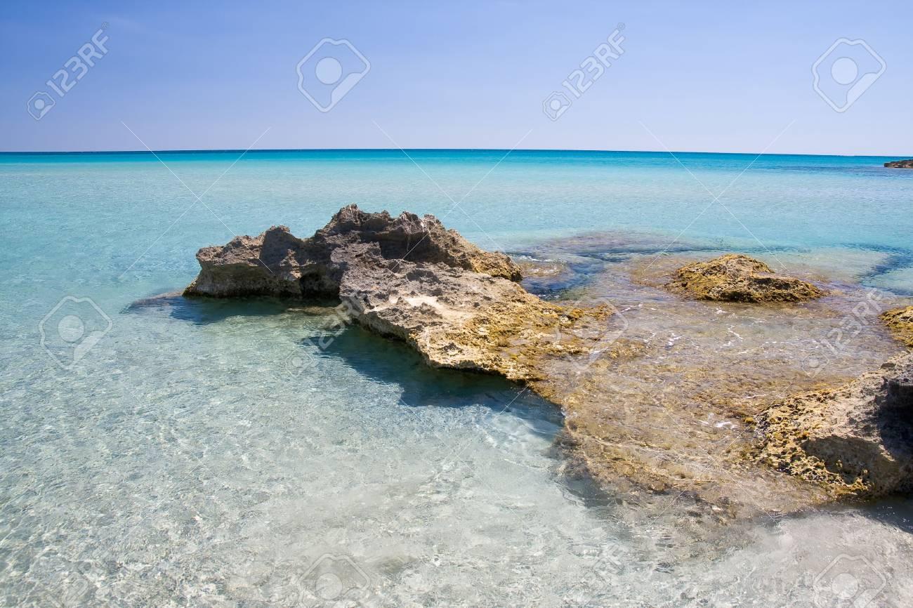 beautiful exotic beach in Mediterranean Stock Photo - 3429569