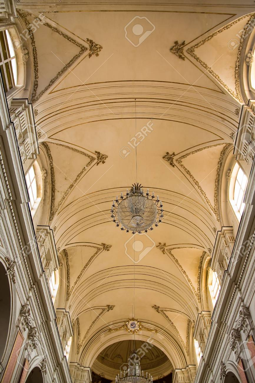 an interior of typical sicilian church Stock Photo - 3429552