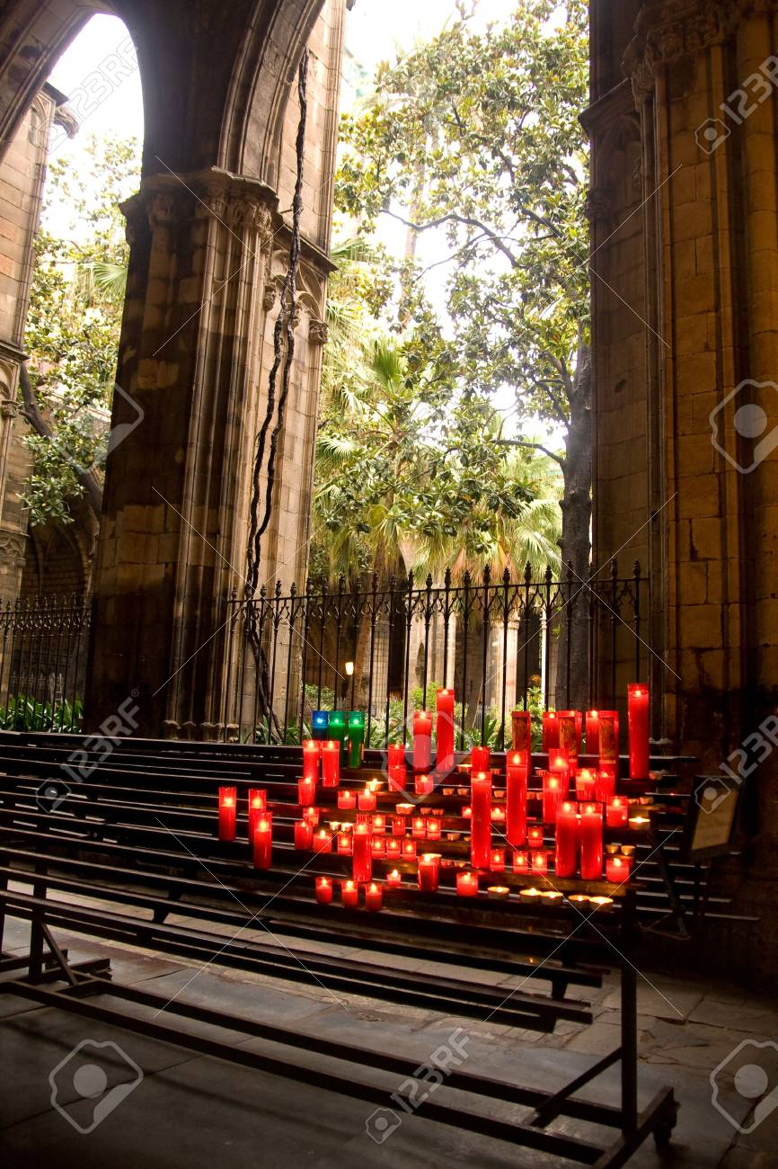 glowing candles on dark background Stock Photo - 3845227