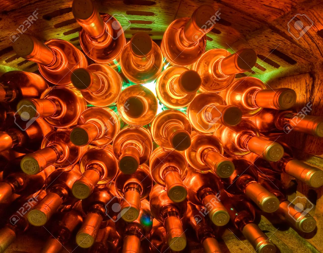 stacked up wine bottles in the cellar Stock Photo - 4692517