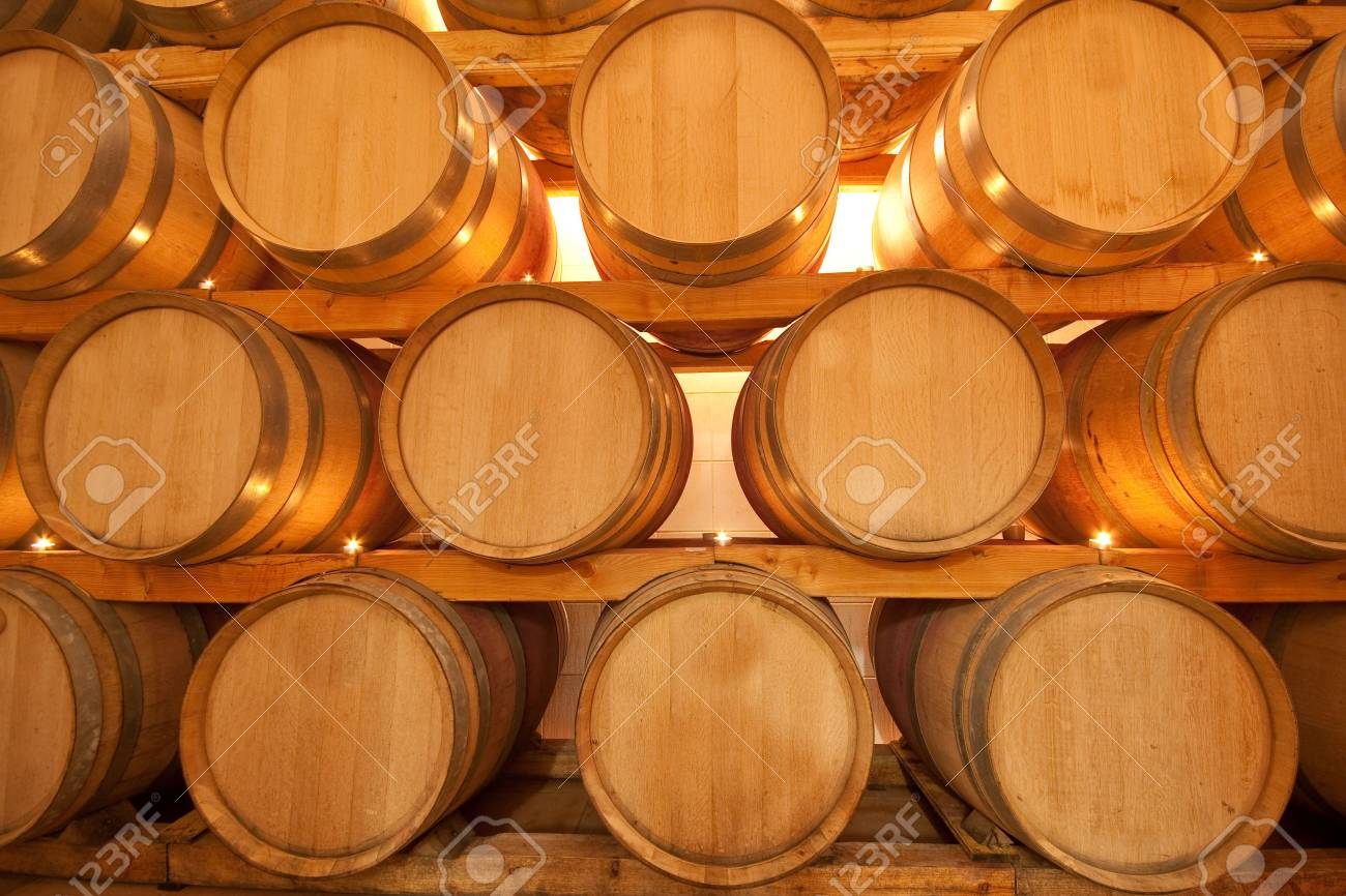 wine barrels in old wine cave Stock Photo - 4729738
