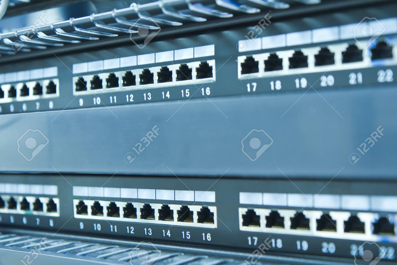 network hub without patch cables Stock Photo - 8204742