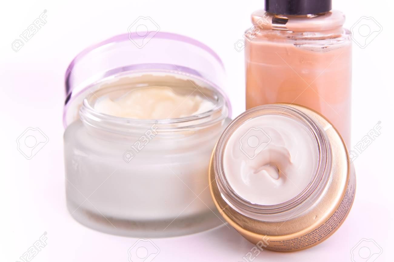 set of nourishing creams and makeup Stock Photo - 8522906