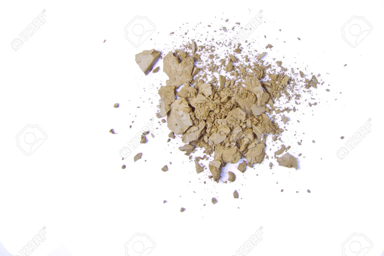 crushed eyeshadow isolated on white background Stock Photo - 8962614