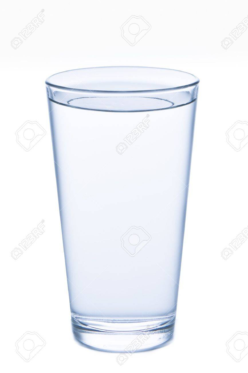 a851dc4b8b4 glass filled with water on white background Stock Photo - 10727058