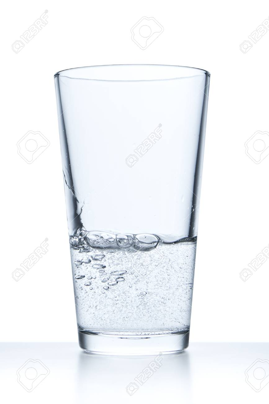 7147a19c675 glass filled with water on white background Stock Photo - 11836387