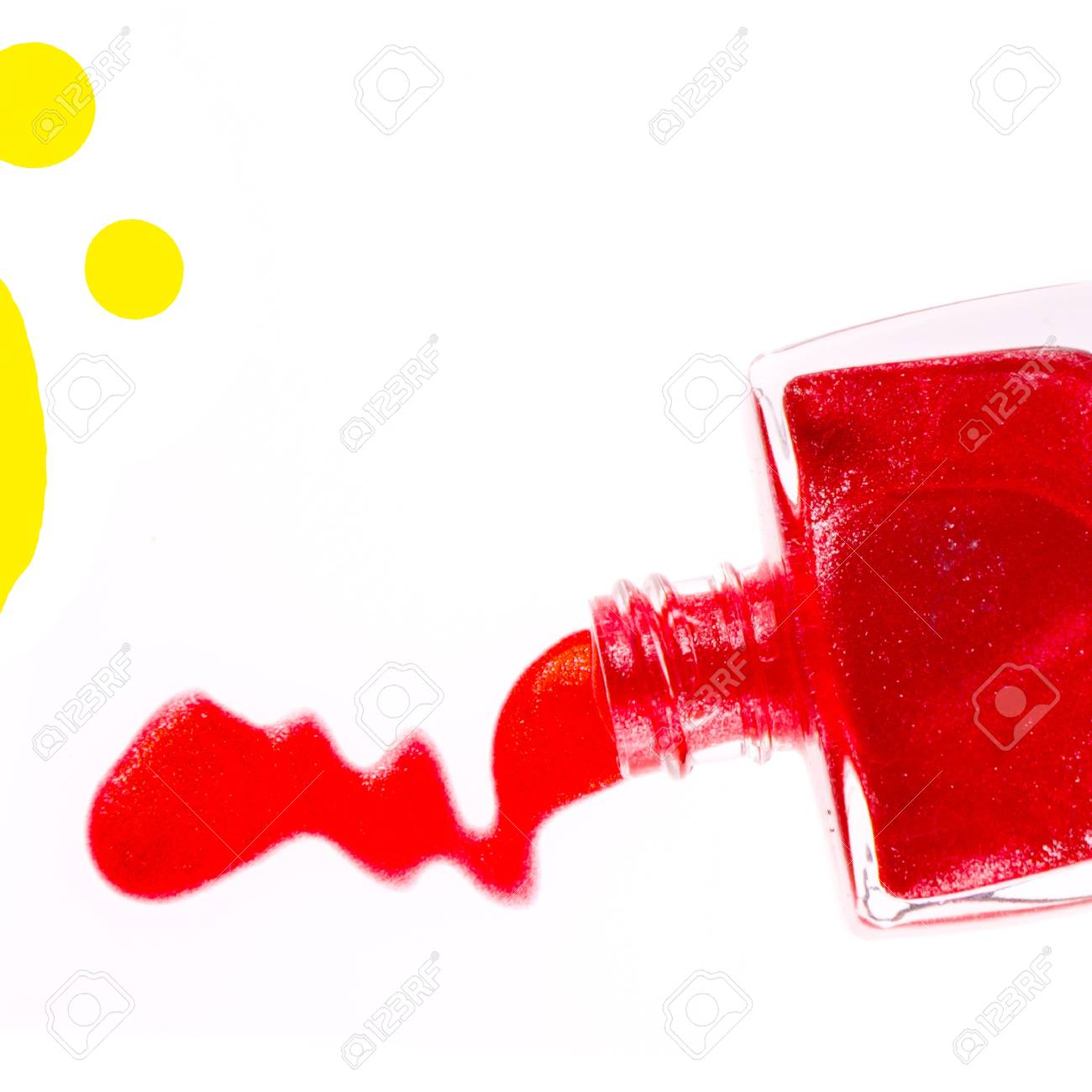 spilled nail polish isolated on white background Stock Photo - 12727570