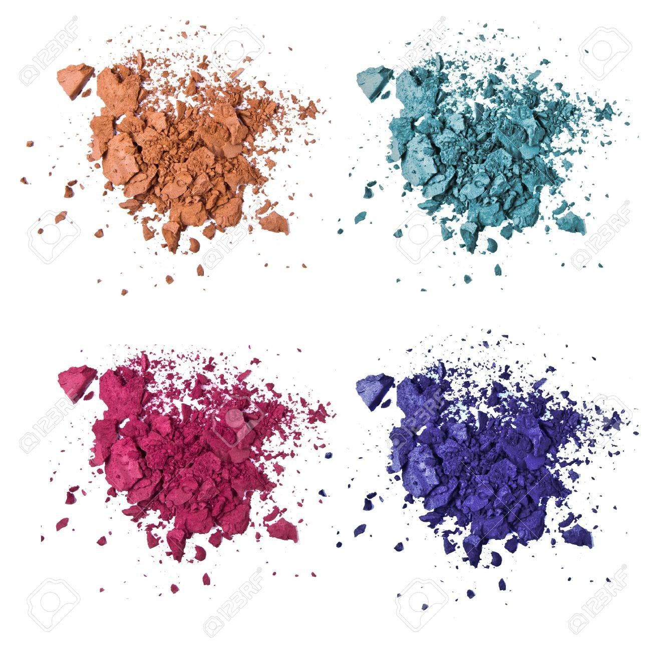 set of various crushed eyeshadows stock photo picture and royalty