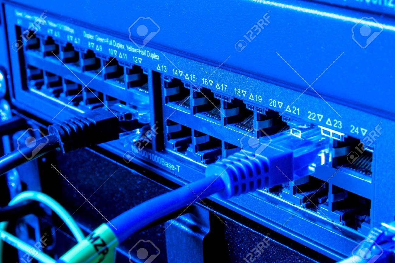 Concept of  network infrastructure with cables connected to data center Stock Photo - 13150407