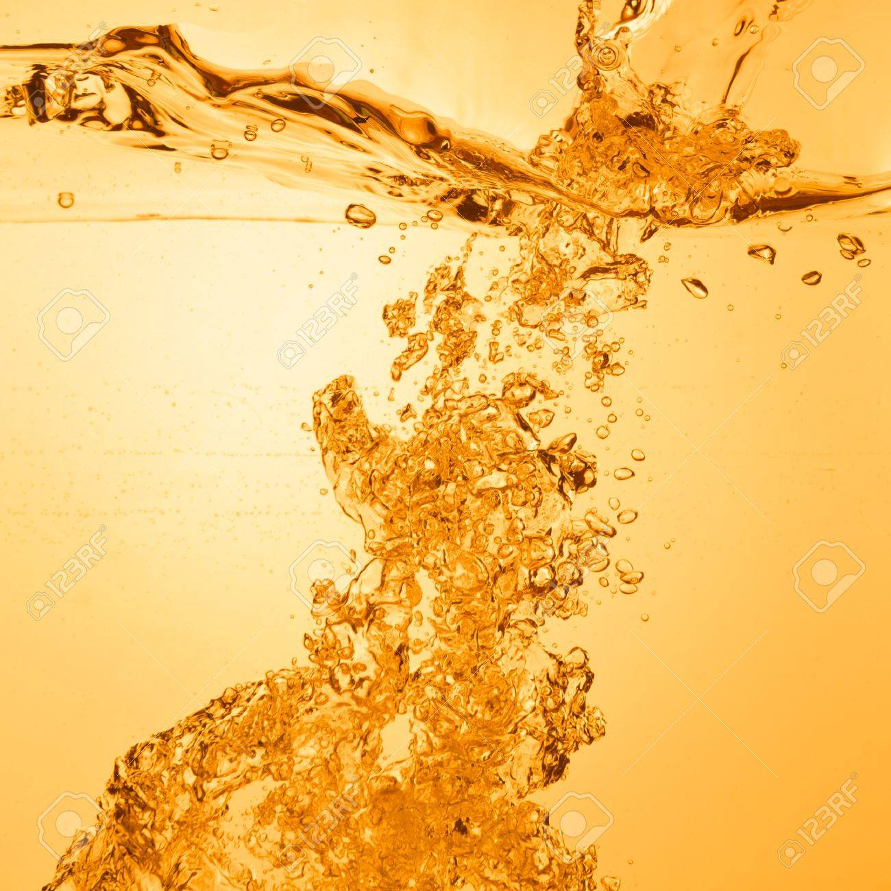 orange summer drink with bubbles Stock Photo - 14845985