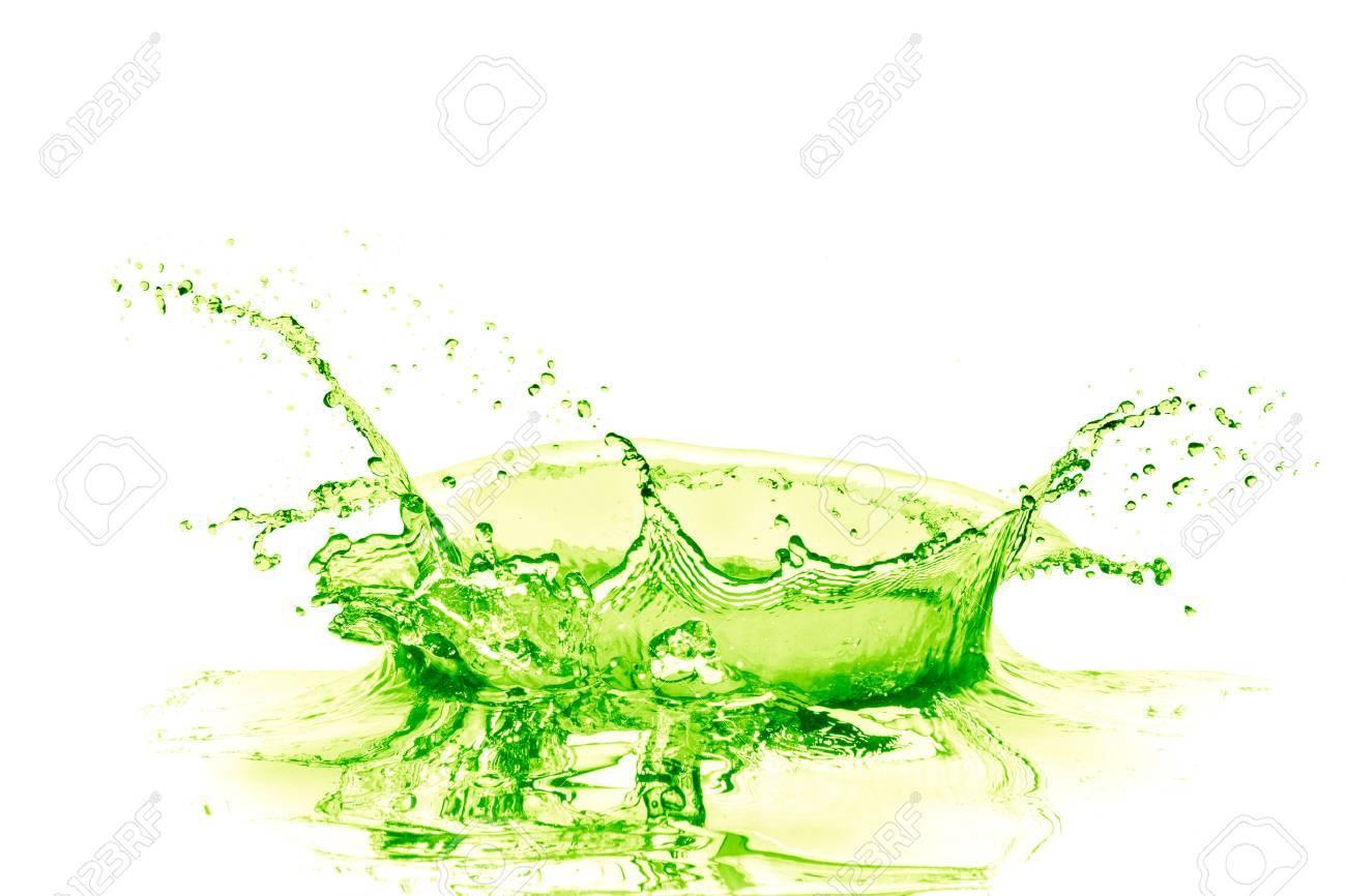 lime drink splash on white background - 38197699