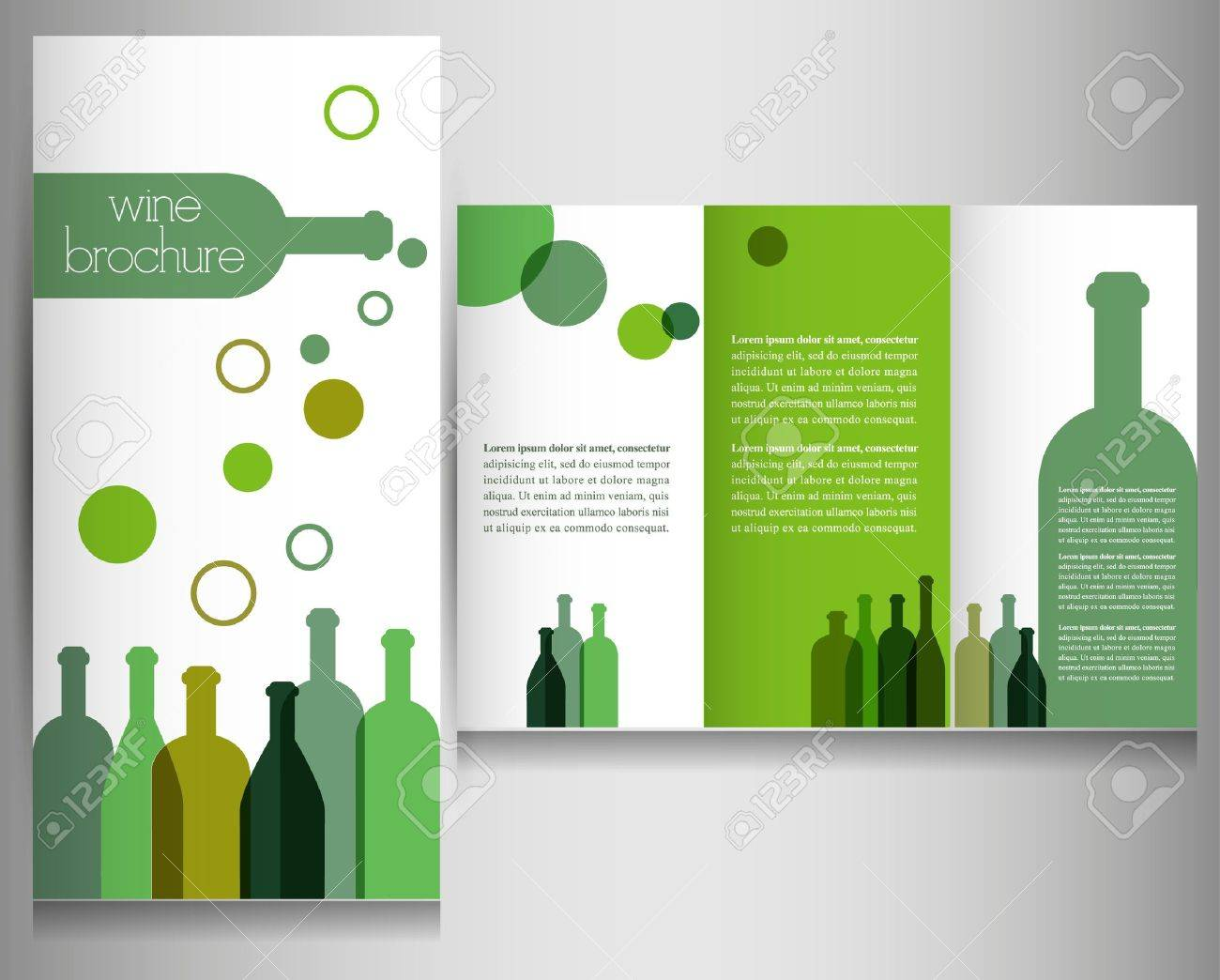 vector wine brochure design template vector