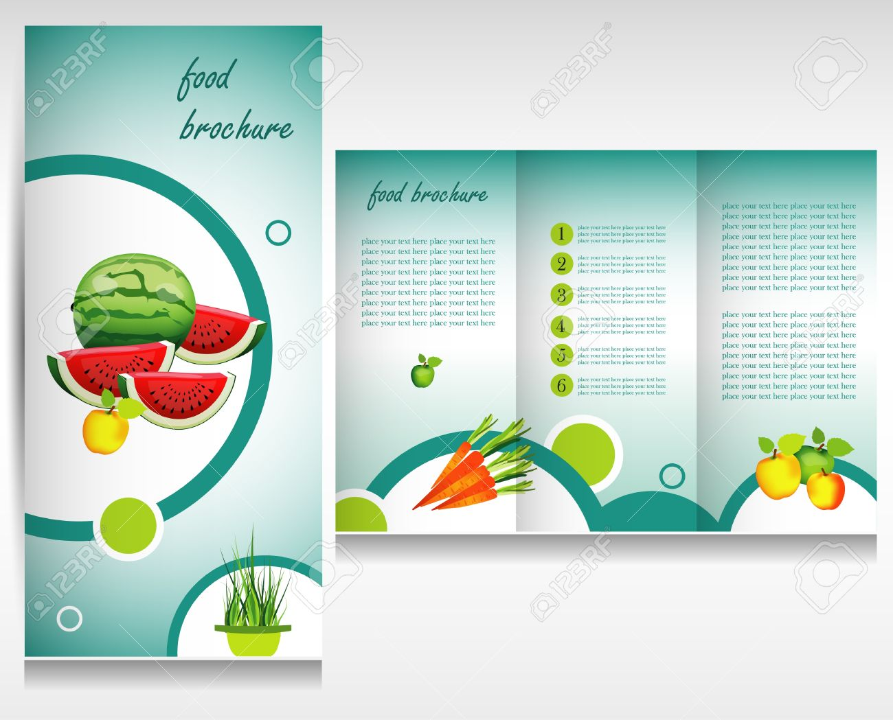 Food Brochure Design Concept Royalty Free Cliparts, Vectors, And ...
