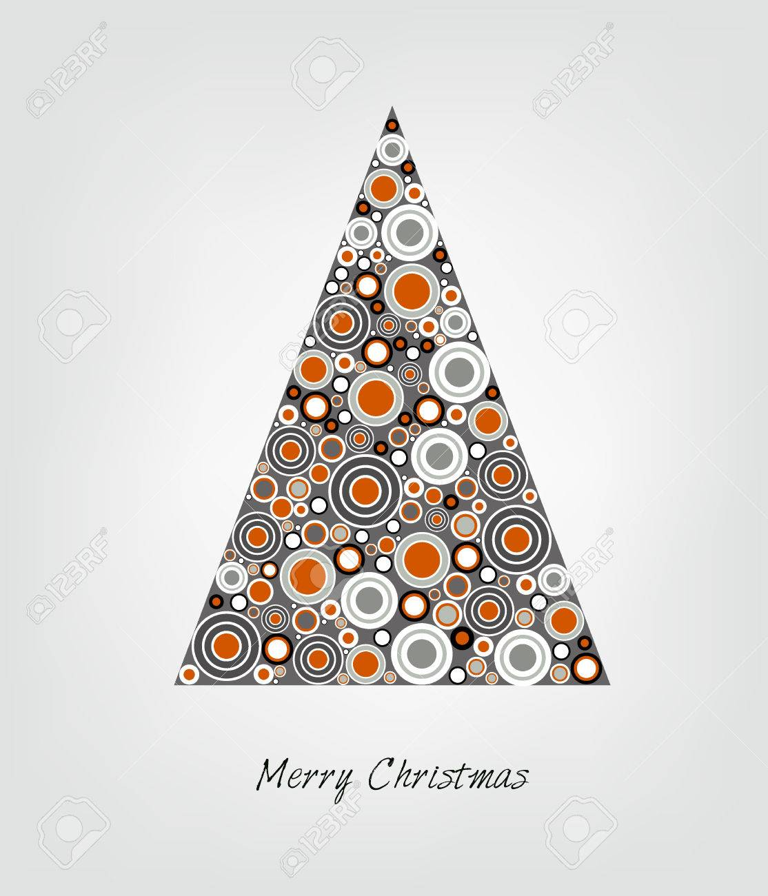 Christmas card  Stylized Christmas tree  Circle patern  Vector backgroun Illustration Stock Vector - 23241847