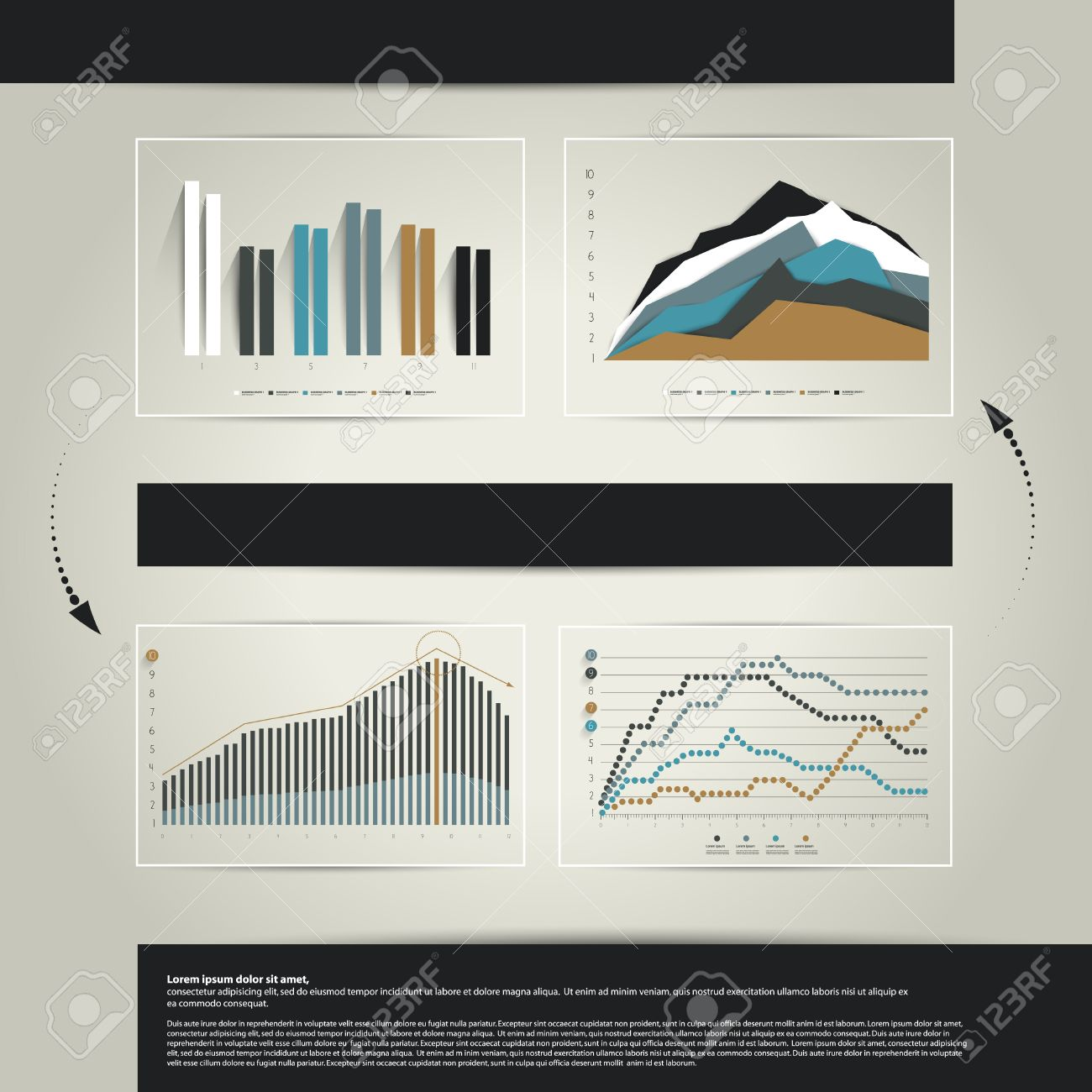 exclusive set of business graph layout infographics template exclusive set of business graph layout infographics template can be used for annual report catalog