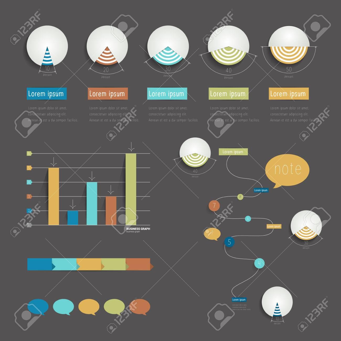 Conjunto De Elementos Infográficos Cronología Ilustración Vectorial ...