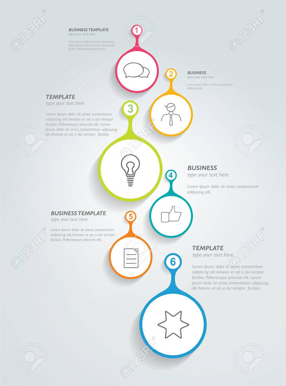 Timeline Infographic Template Vector Circle Banner Royalty Free - Free timeline infographic template