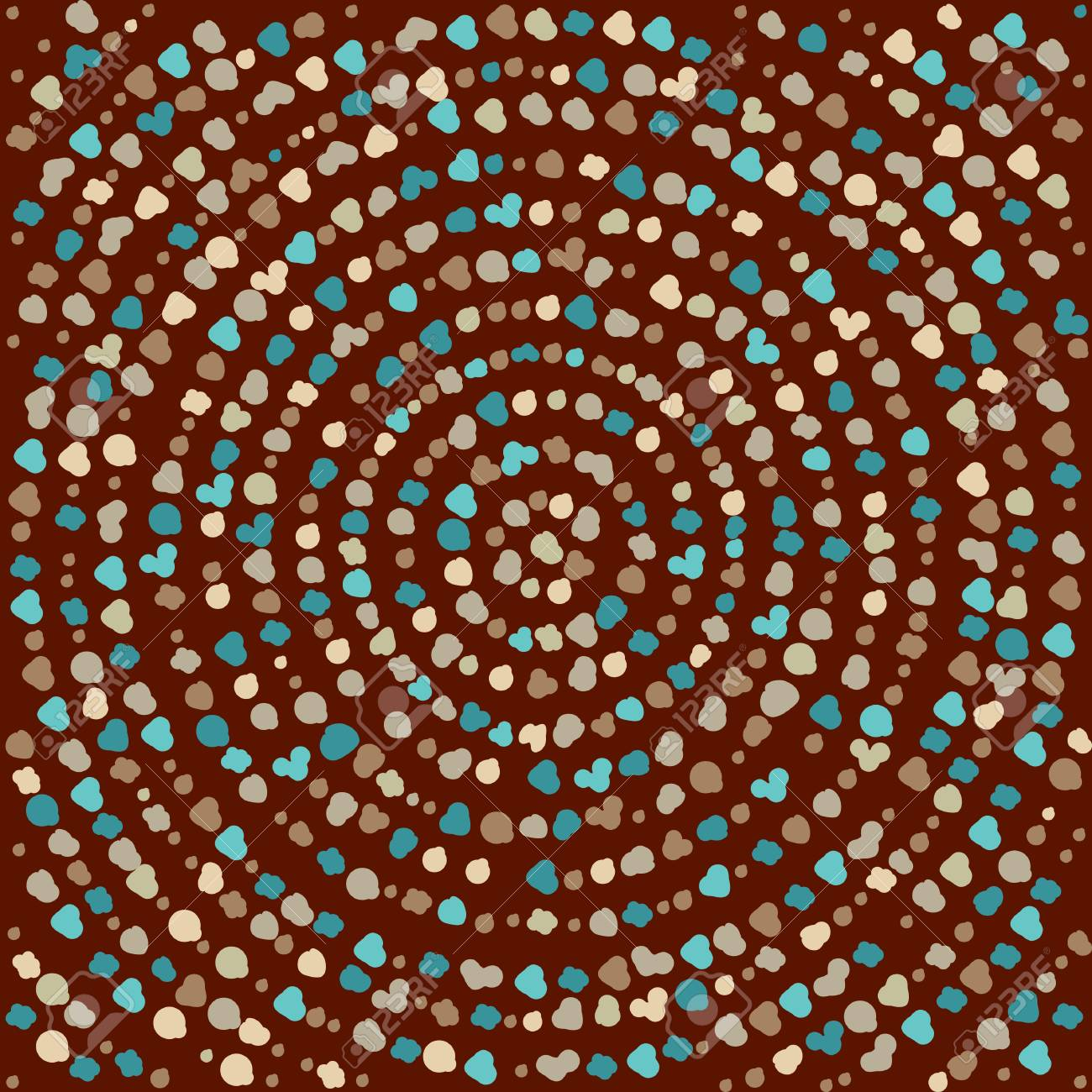 Color dot mandala  Circle vector pattern