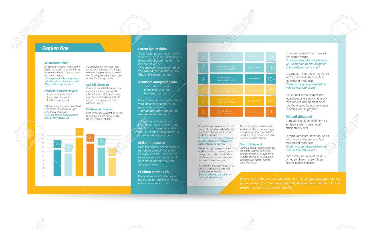 Brochure flyer newsletter annual report layout template business brochure flyer newsletter annual report layout template business background concept stock flashek Choice Image