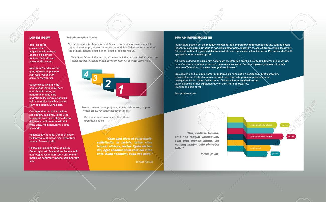 brochure flyer newsletter annual report layout template business background concept stock