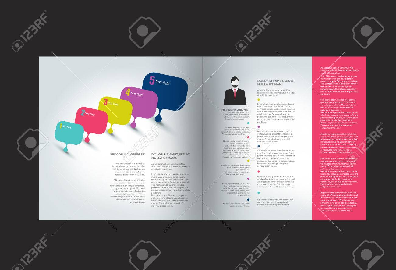 booklet page magazine layout for infographics web template