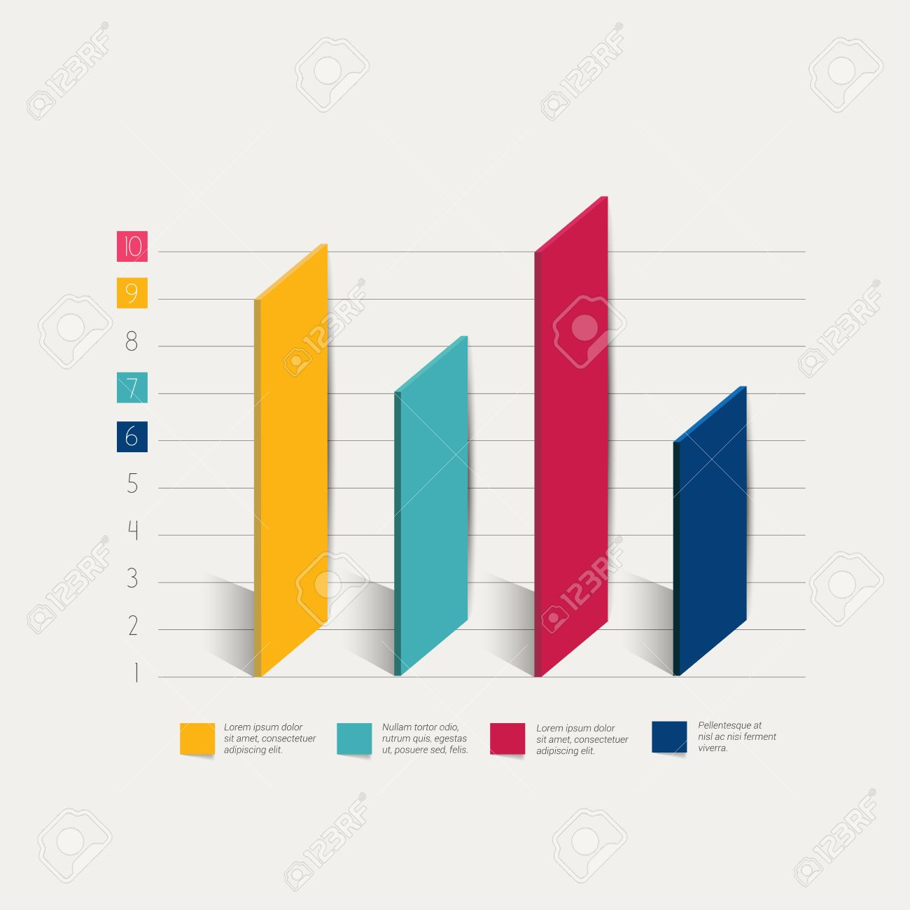 3d bar chart graph. infographic element. royalty free cliparts