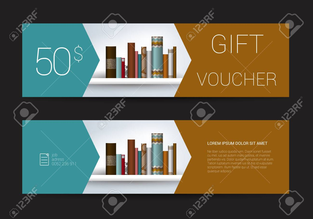 Excllusive Book Store Gift Voucher Template Simply Modern Design – Voucher Book Template