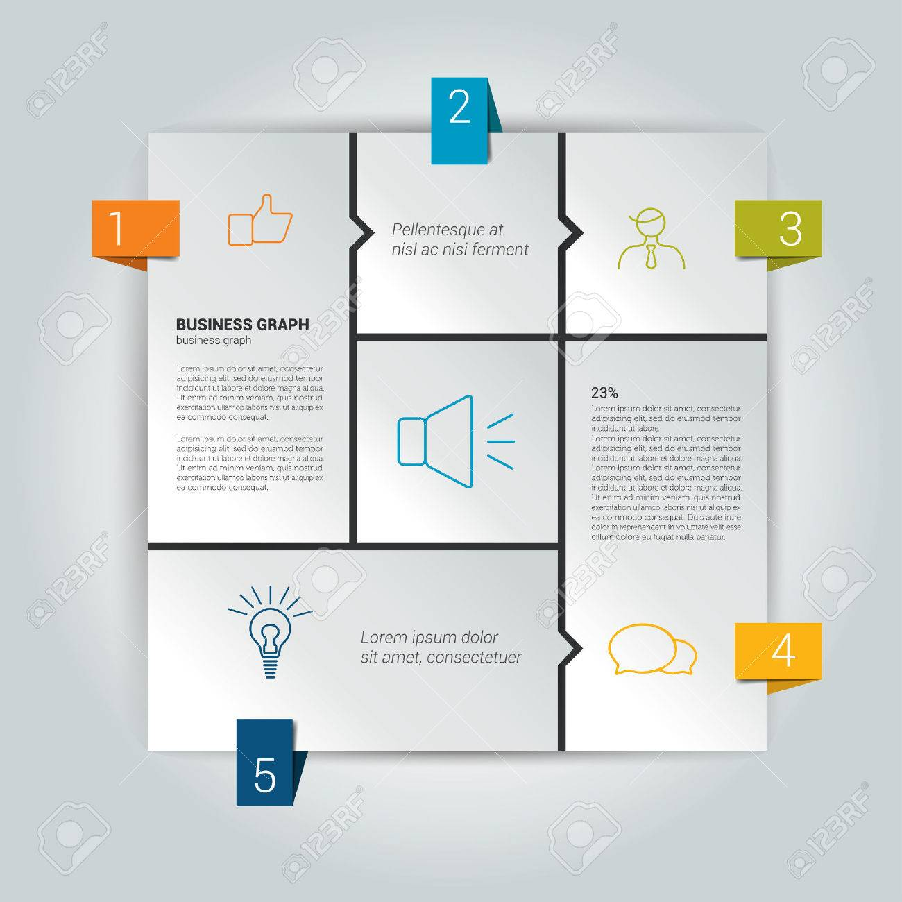 box diagram for infographics web diagram template vector scheme