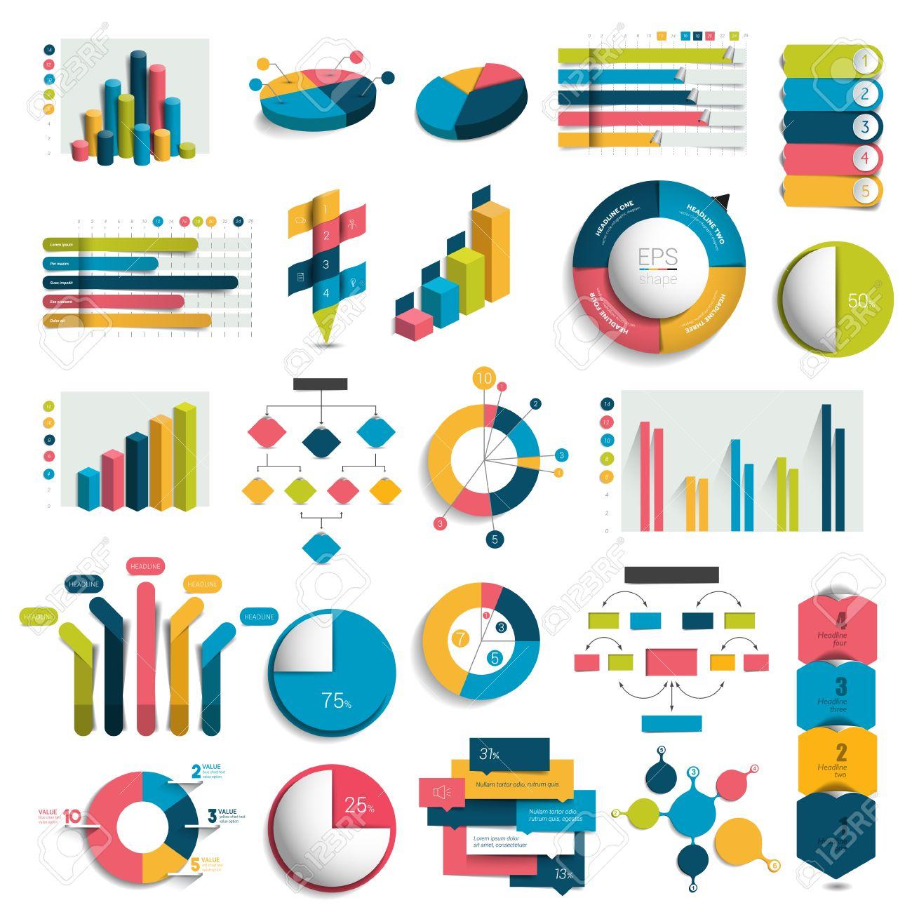 Mega Set Of Business Design 3D Graphs Charts Templates Schemes – Graphs and Charts Templates