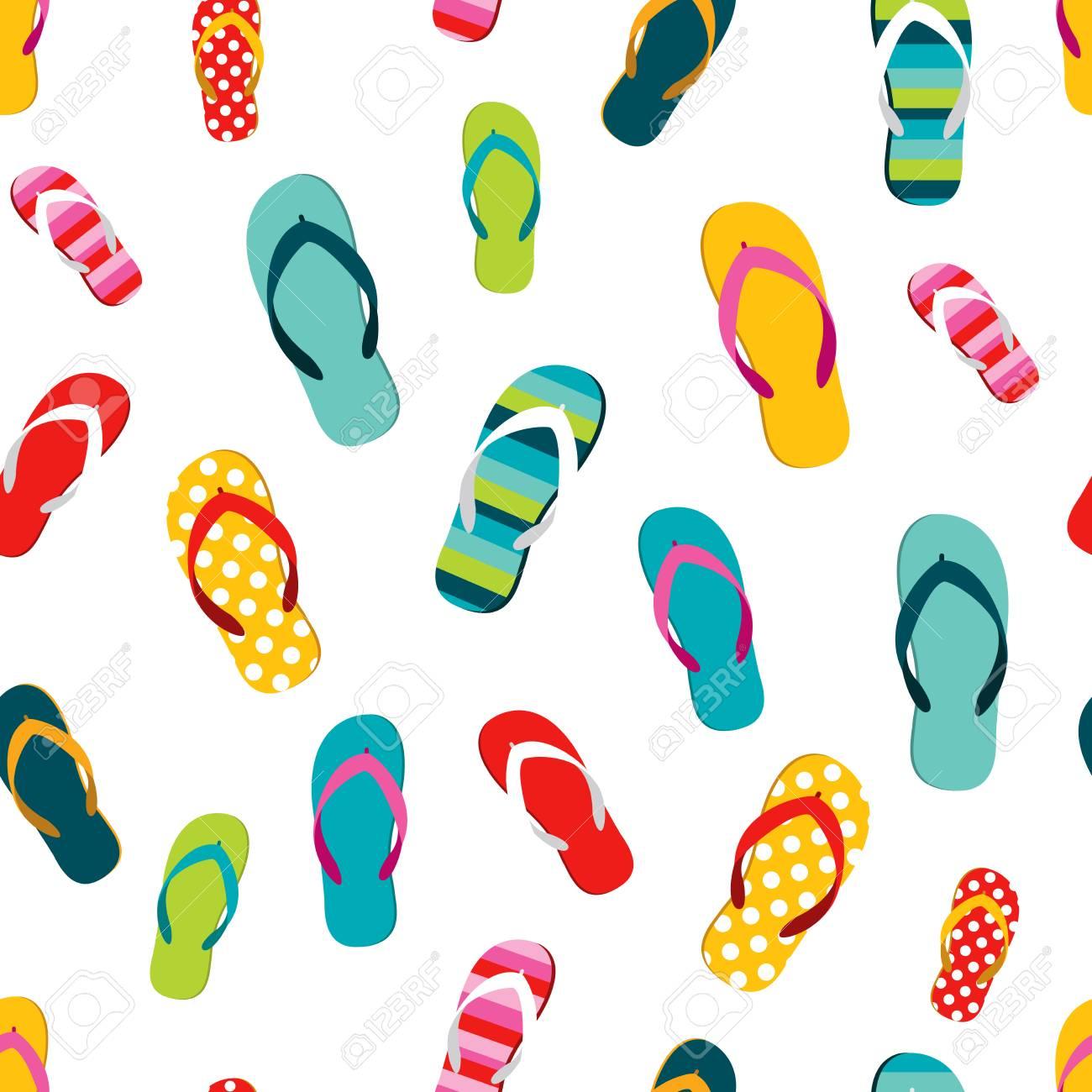 049af0c3368b Flip Flop Color Summer Pattern. Seamless Repeat Pattern