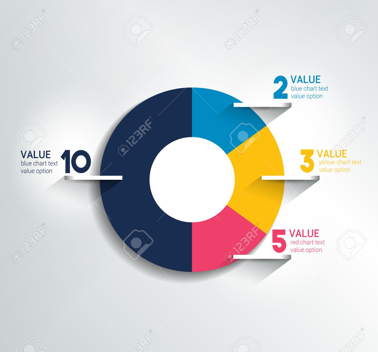 Round circle chart graph simply color editable infographics round circle chart graph simply color editable infographics elements stock vector nvjuhfo Images