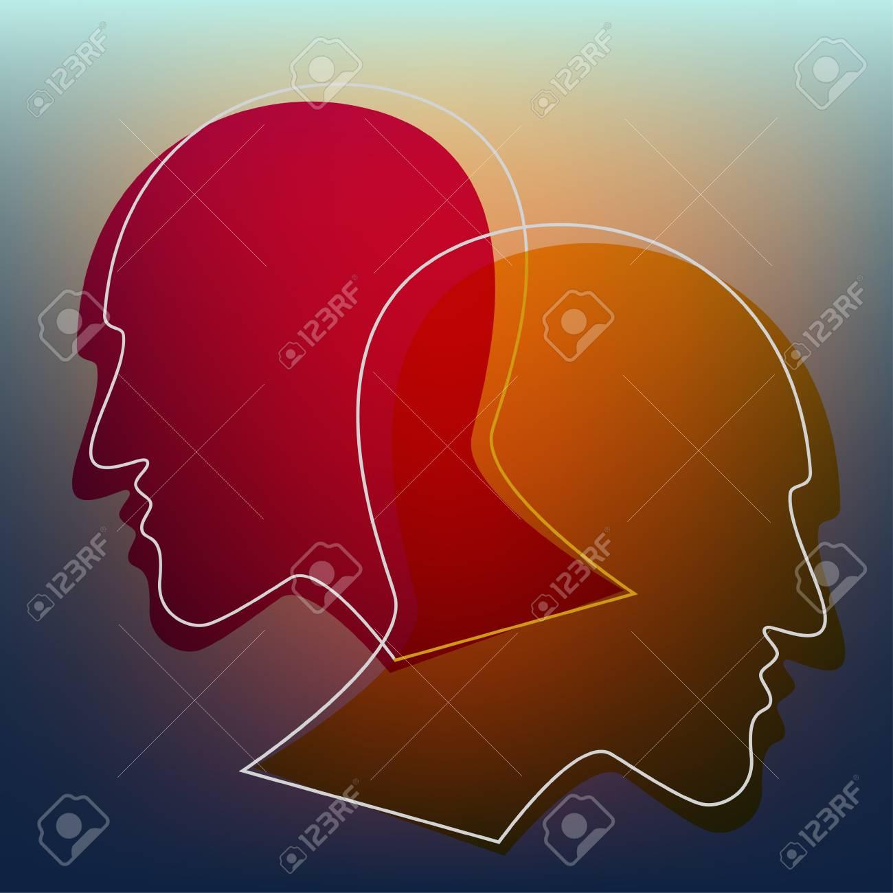 Schizophrenia Concept Symbol Of Depression Dementia Vector