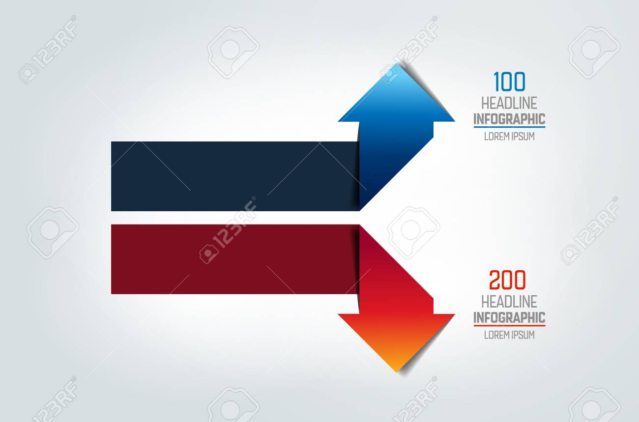 Two arrows in oposite direction infographic chart scheme diagram two arrows in oposite direction infographic chart scheme diagram stock vector ccuart Images