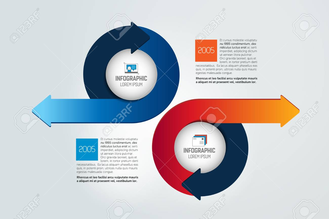 Two circle arrows in opposite direction infographic chart scheme two circle arrows in opposite direction infographic chart scheme diagram vector illustration ccuart Images