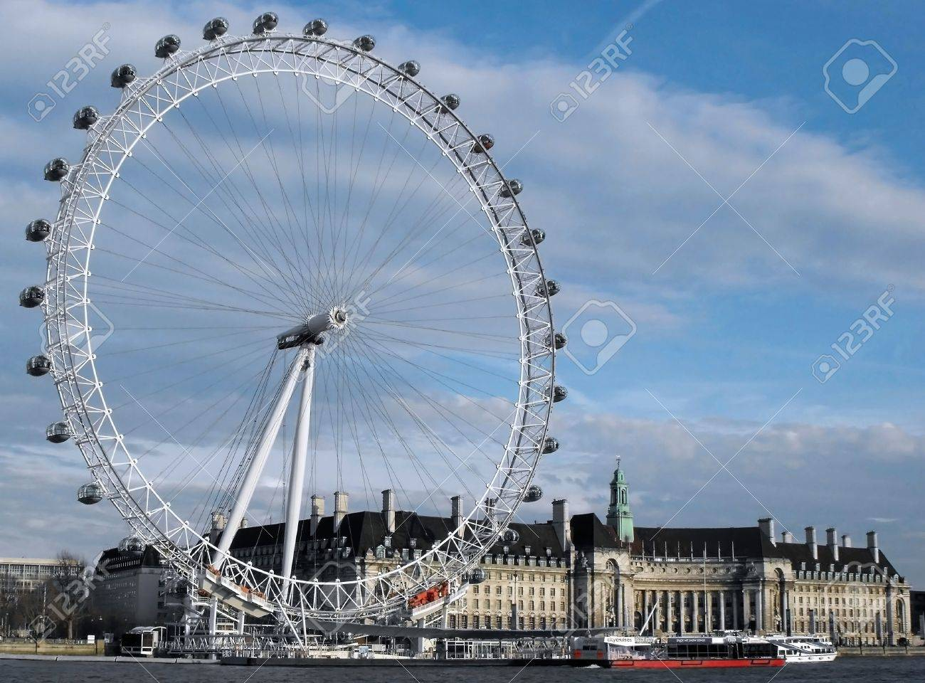 the london eye big wheel at the thames stock photo picture and