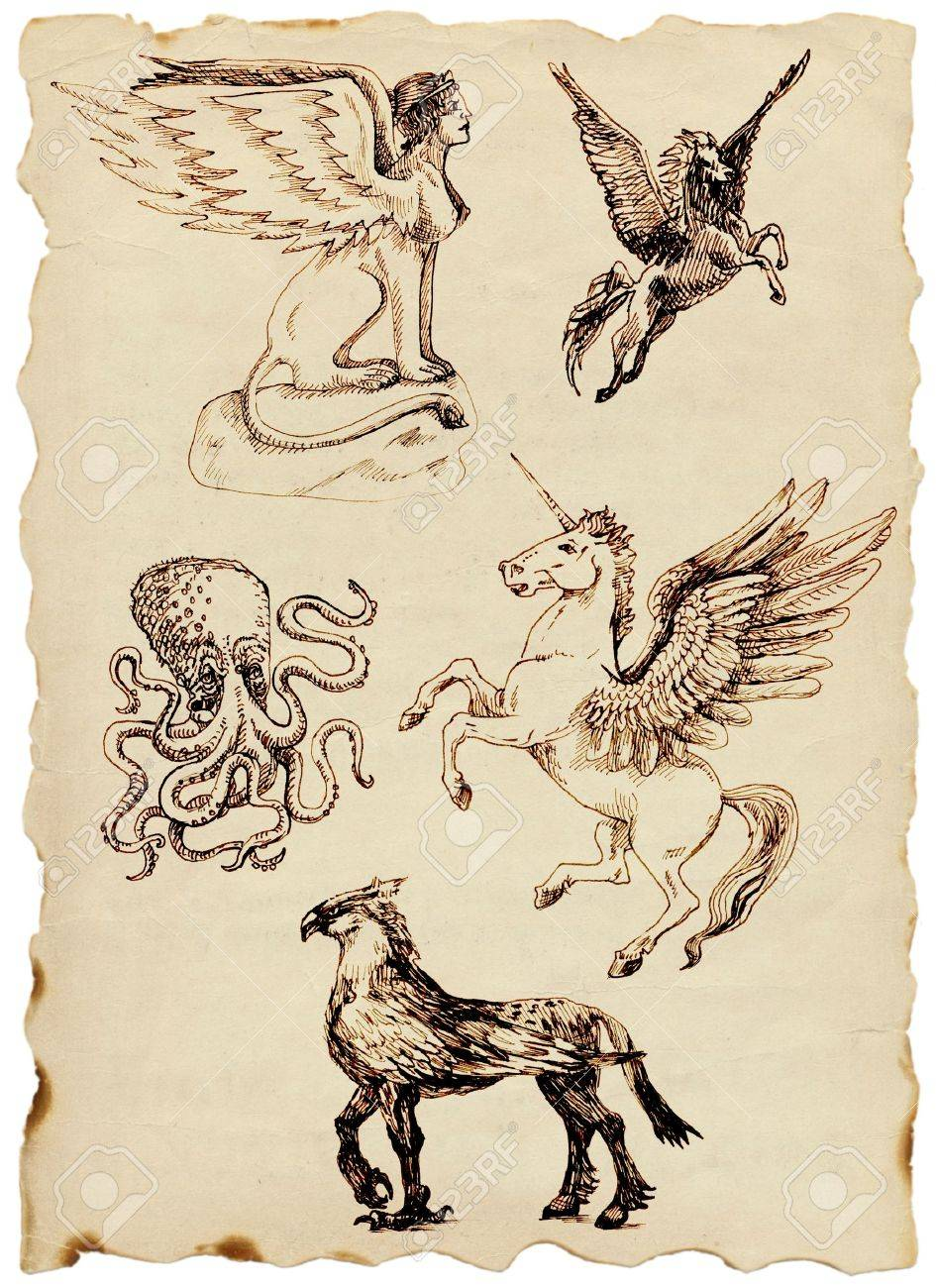 hand drawing, mystical creatures Stock Photo - 14767788
