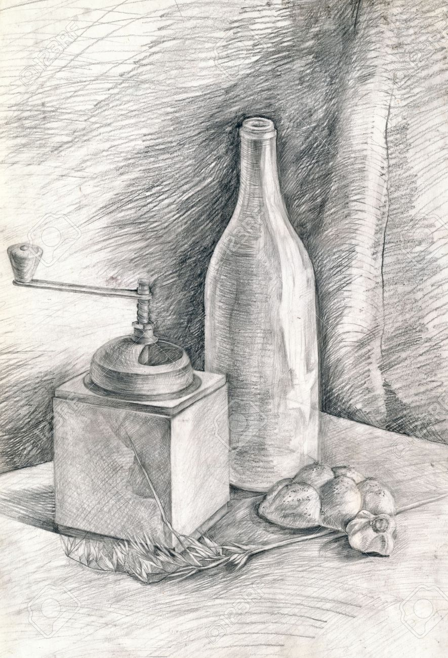 Célèbre Still Life, Hand Drawing, Pencil Technique Stock Photo, Picture  FW22