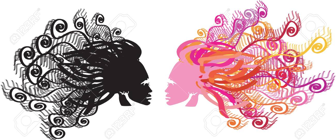 two floral heads Stock Vector - 15335747