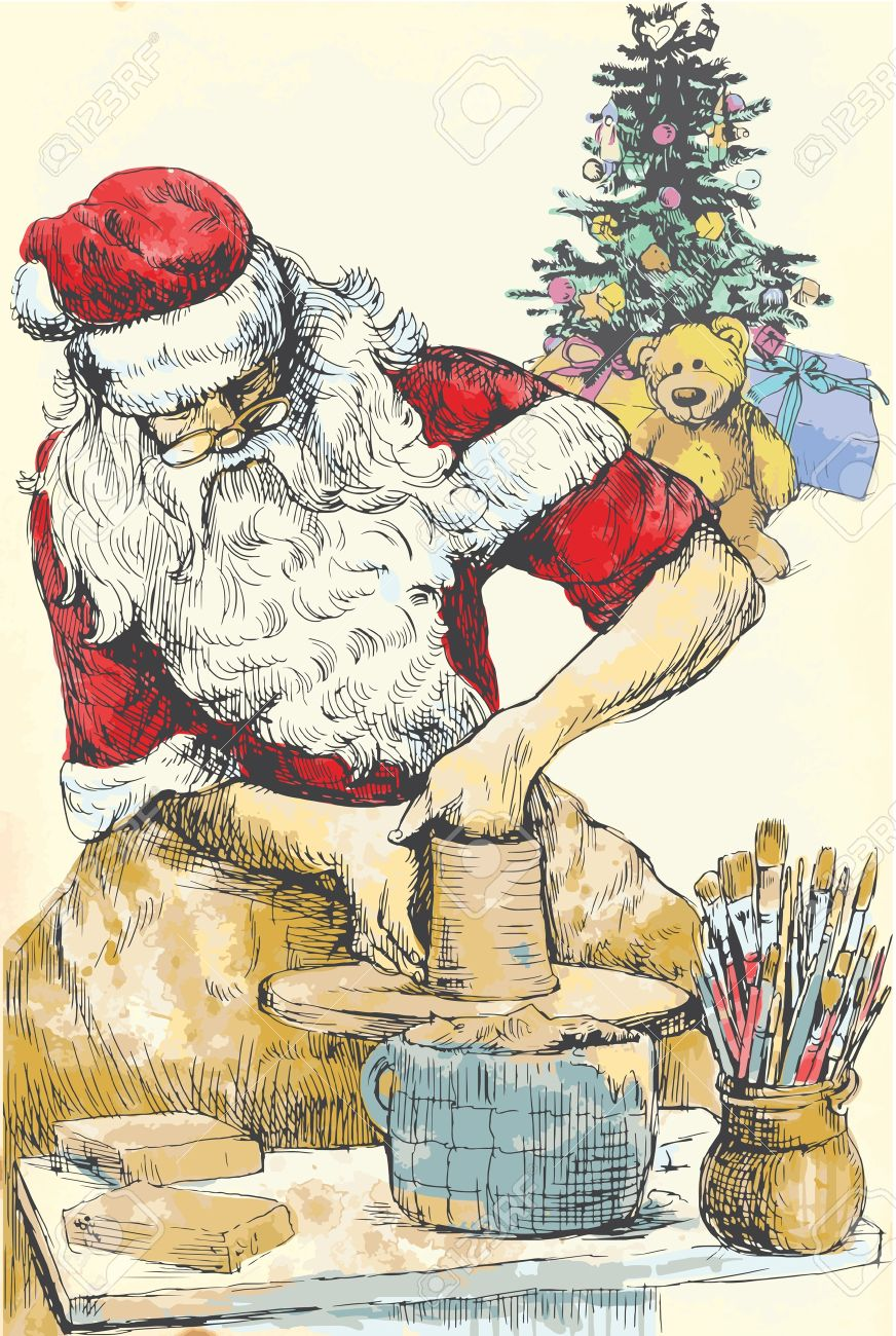 Image result for santa pottery wheel