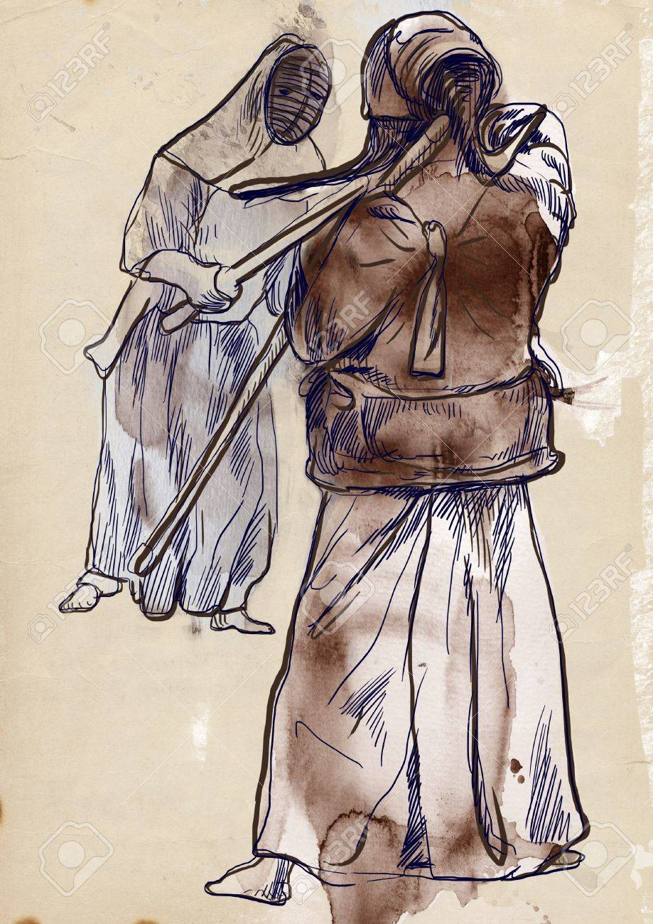 Budo, Japanese martial art and philosophy way Stock Photo - 17542346