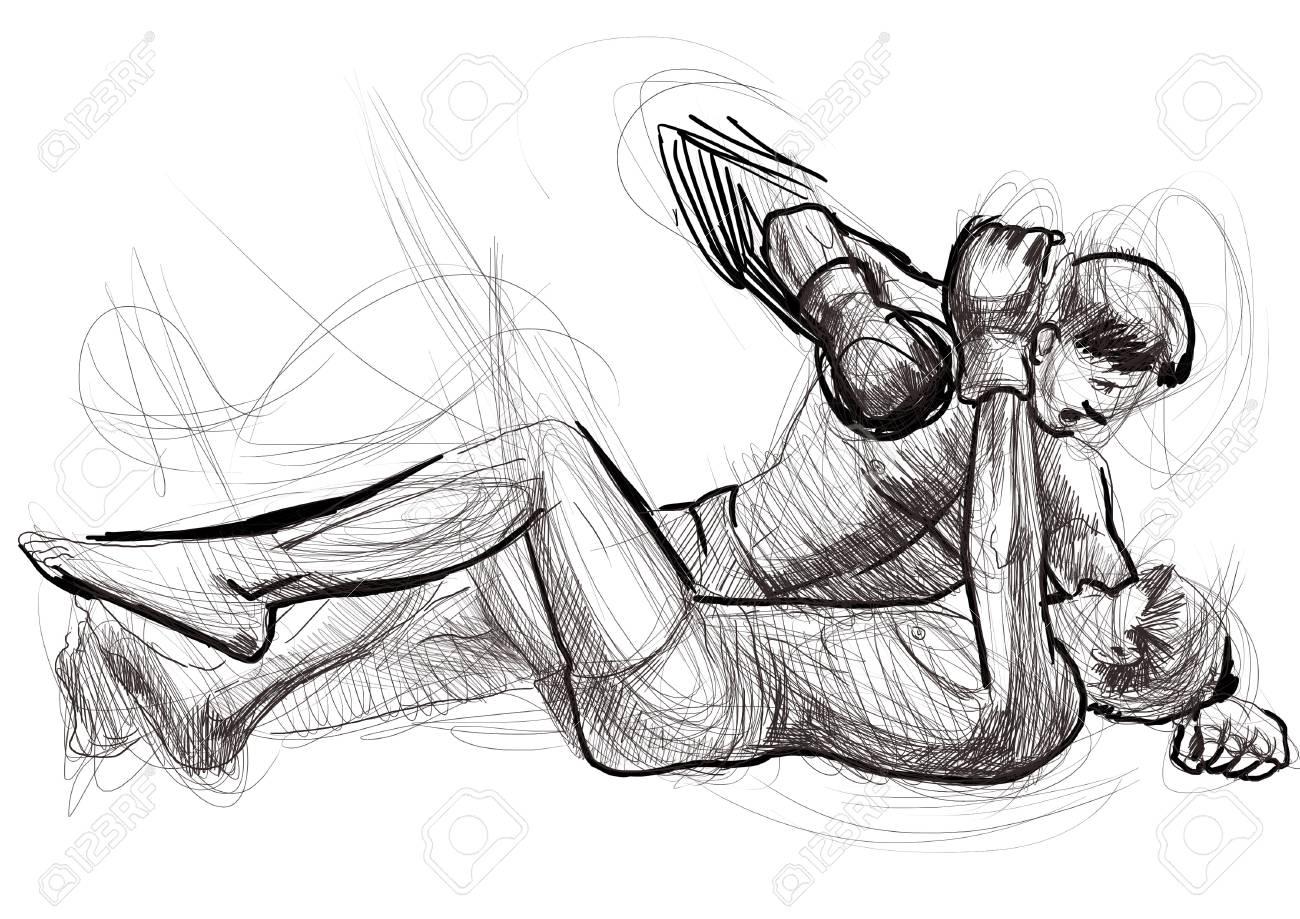Muay Thai  combat martial art from Thailand  - Kickboxing Stock Photo - 18045291