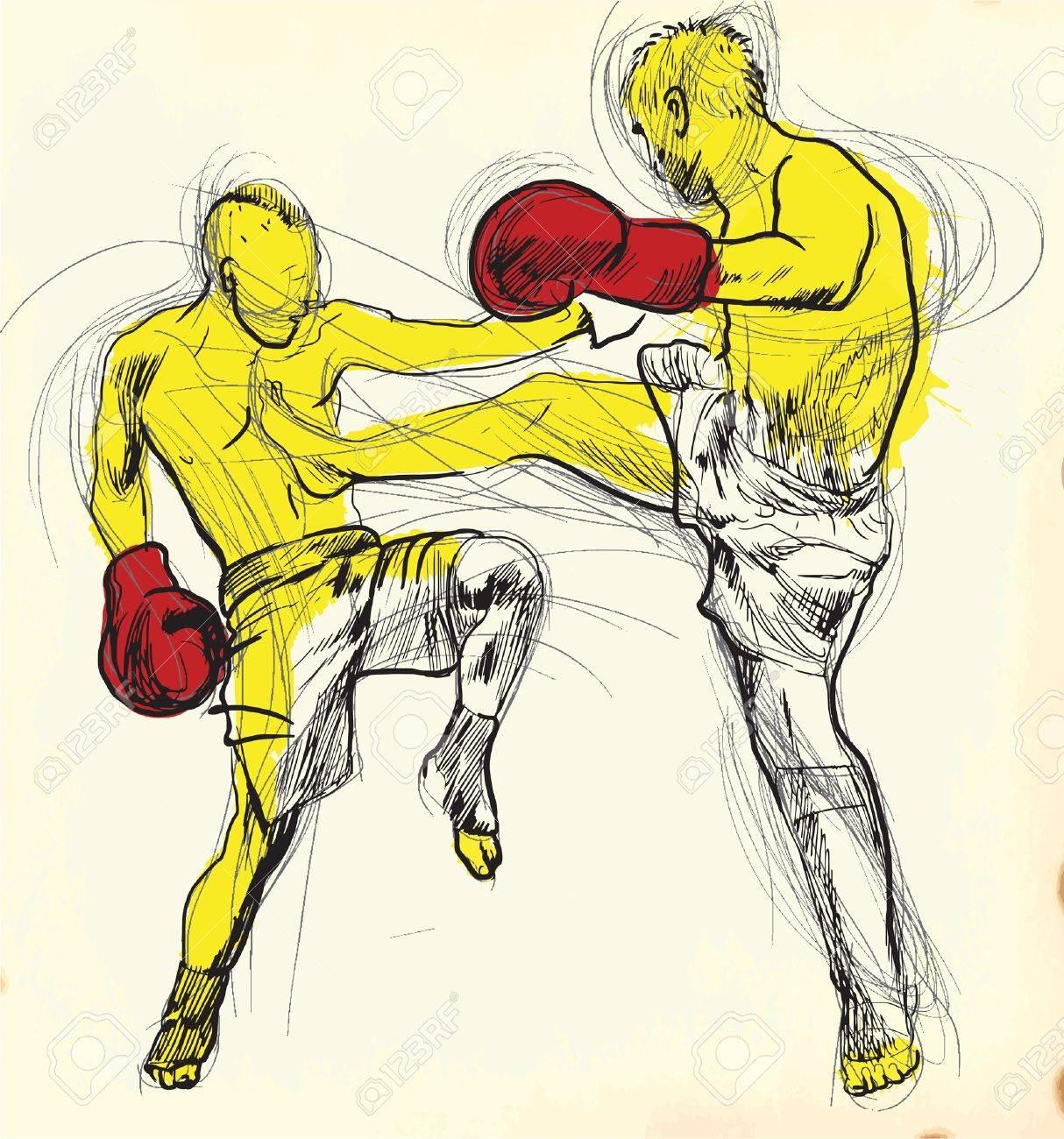 Muay Thai Combat Logo Muay Thai Combat Martial Art
