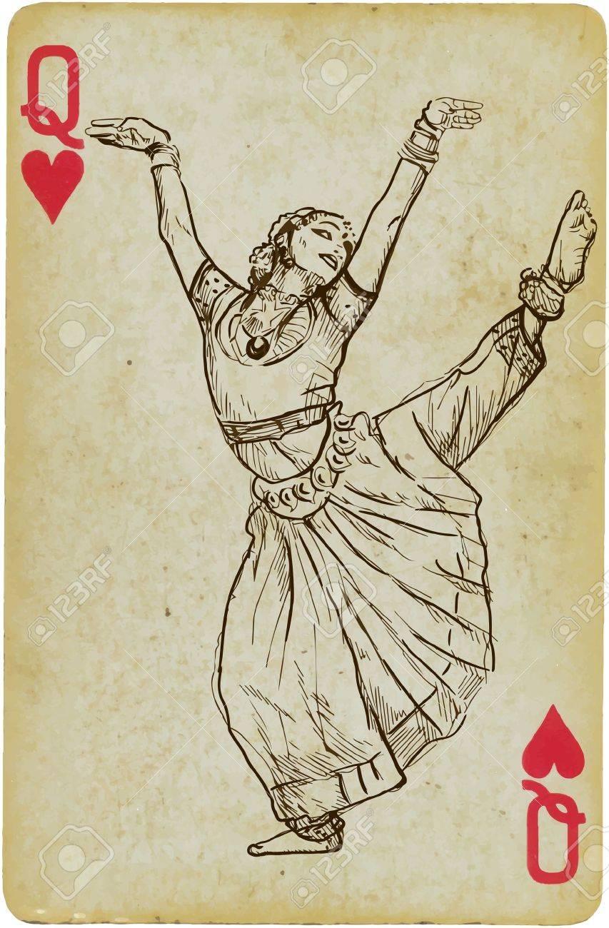 Indian beauty dancing Stock Vector - 20442717