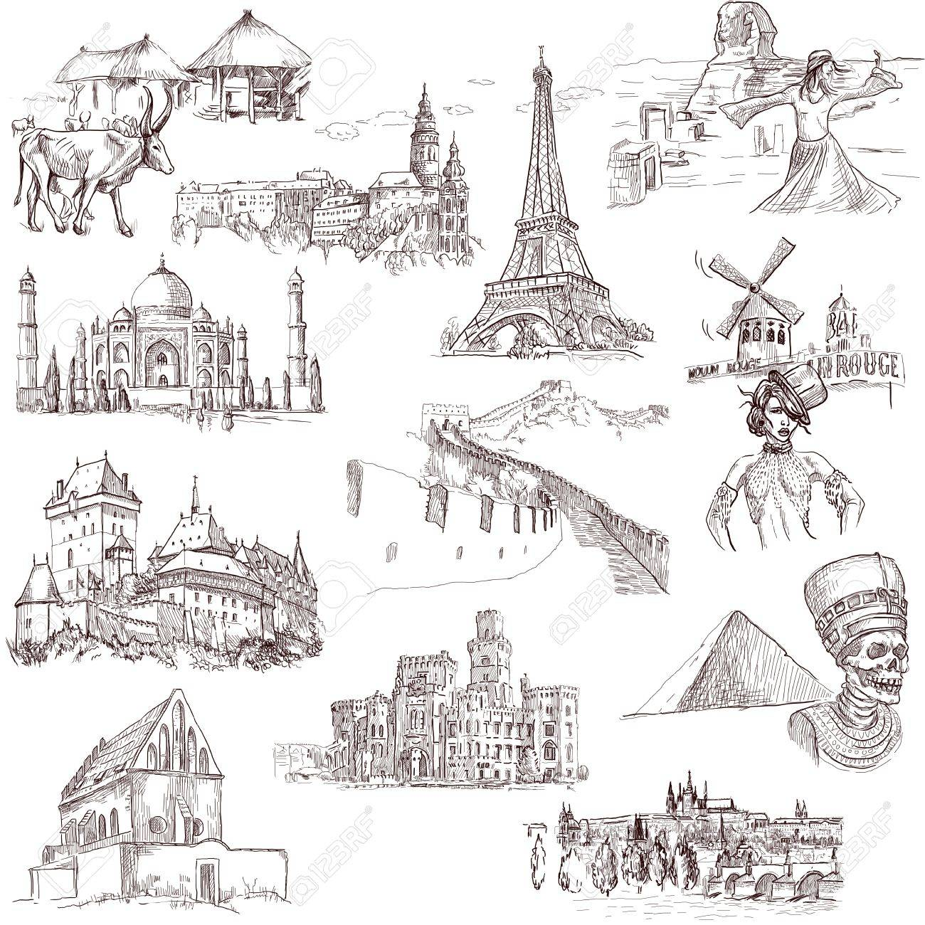 Famous Places, Buildings And Architecture Around The World Stock Photo    21438143